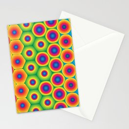 Rainbow Hexagon Stationery Cards