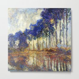 Poplars on the Bank of the Epte River by Claude Monet Metal Print
