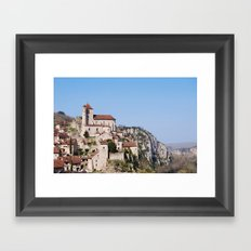 Saint Cirq Lapopie, France Framed Art Print