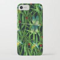 fireflies iPhone & iPod Cases featuring fireflies by kociara