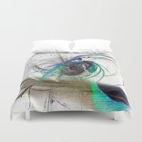 emerald Duvet Covers featuring Emerald by haroulita