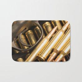 Rifle Trigger and Bullets Bath Mat