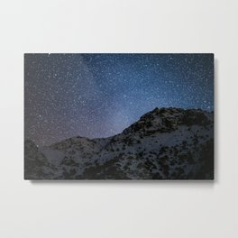 Stars over Grand Atlas mountains, morocco Metal Print
