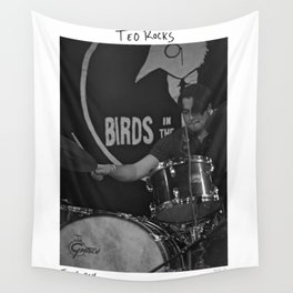 Birds in the Boneyard, Print 19: Teo Rocks! Wall Tapestry