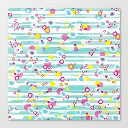 Tropical inspired polka dots Canvas Print