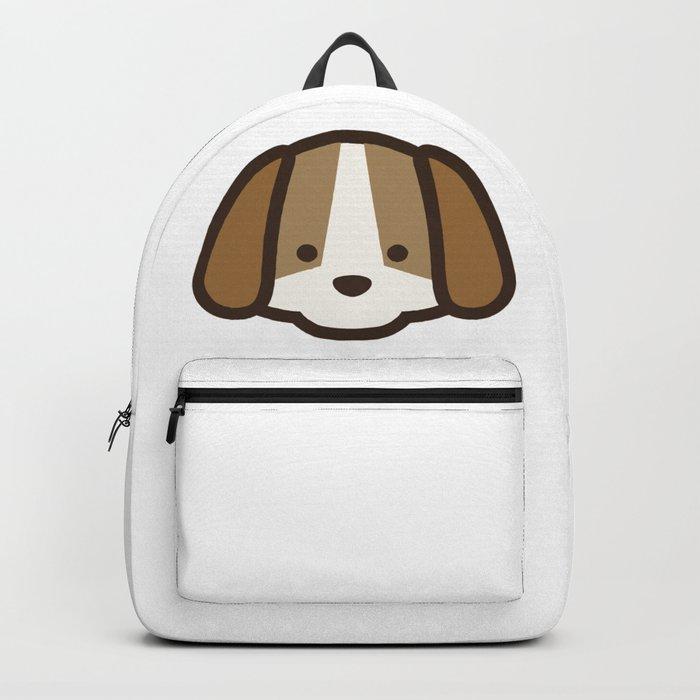 Puppy Dog Emoji Backpack by azza1070