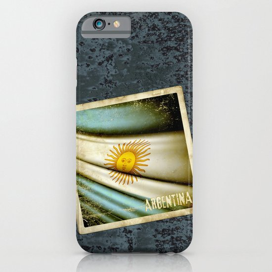Grunge sticker of Argentina flag iPhone & iPod Case
