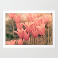 tulips Art Prints featuring Tulips by Maria Heyens