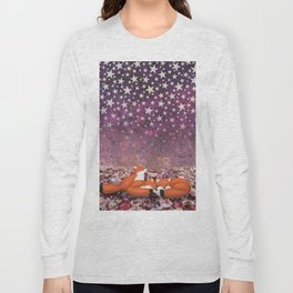 foxes under the stars Long Sleeve T-shirt