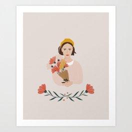 Flower Girl Art Print