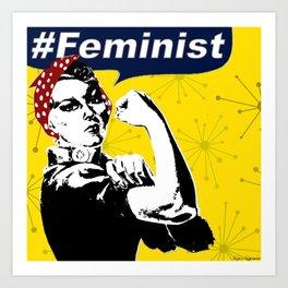 Rosie the Riveter B&W | Feminist Art Print