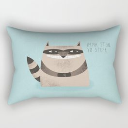 Sneaky Raccoon Rectangular Pillow