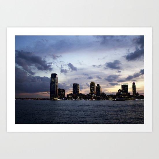 Sunset on the Hudson Art Print