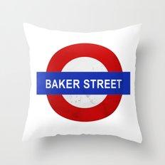 Sherlock Baker Street Print Throw Pillow