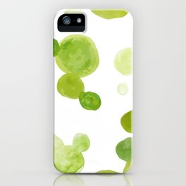 Abstract Green Watrcolor Circes iPhone Case