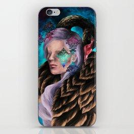 """Did He Make You Feel Like Wallpaper"" Painting iPhone Skin"
