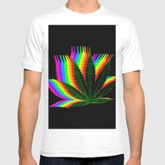 weed colors White Mens Fitted Tee MEDIUM