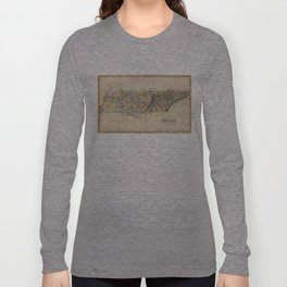 Vintage Map of Tennessee (1822) Long Sleeve T-shirt