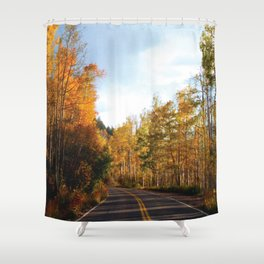 Indy In Autumn Shower Curtain