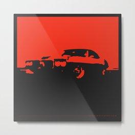Pontiac Firebird, Red on Black Metal Print