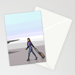 Plane with people Stationery Cards