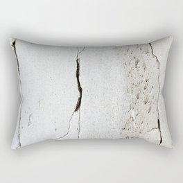 Cracks in Concrete rustic decor Rectangular Pillow
