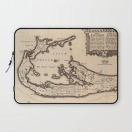 Vintage Map of Bermuda (1626) Laptop Sleeve