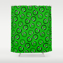 Headphones-Green Shower Curtain
