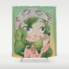 My Lovely Axolotls Shower Curtain