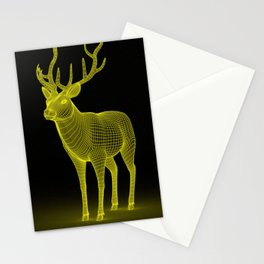 numeric deer 4 Stationery Cards