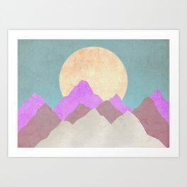 Paperback Mountain Art Print