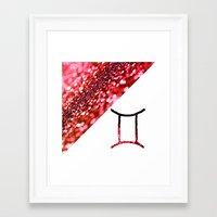 gemini Framed Art Prints featuring Gemini by haroulita