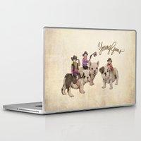 guns Laptop & iPad Skins featuring Young Guns by Katy Davis