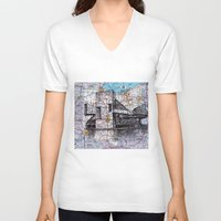 ohio state V-neck T-shirts featuring Ohio by Ursula Rodgers