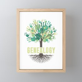 Genealogy Tree Hand Family Tree Historian Gift Framed Mini Art Print