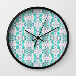 Pattern in Pink and Turquoise Wall Clock