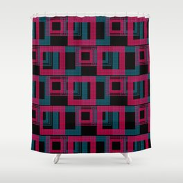 Geometric pattern . Leila . Shower Curtain