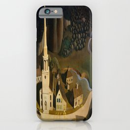 Grant Wood's The Midnight Ride of Paul Revere iPhone Case