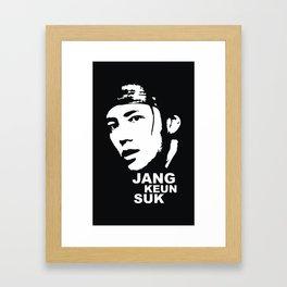 Jang Keun Suk Framed Art Print