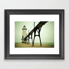 Manistee Light Framed Art Print