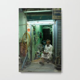 Shop owner | Chennai India | green evening vibes Metal Print