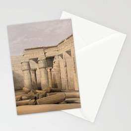 Ruins at Medinet Abou, Thebes, Egypt Stationery Cards