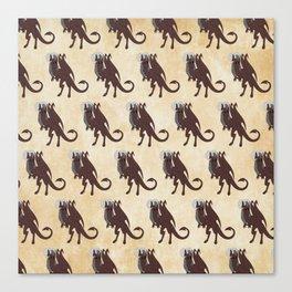 Jersey Devil pattern Canvas Print