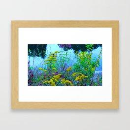 Flowery Hillside Framed Art Print