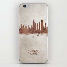 Chicago Illinois Rust Skyline iPhone Skin