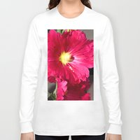 peony Long Sleeve T-shirts featuring Peony by Alex Sallade