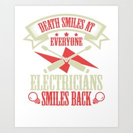 Electrician Gift Profession Electricity Strip Puller Art Print