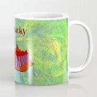 kentucky Mugs featuring Kentucky Map by Roger Wedegis