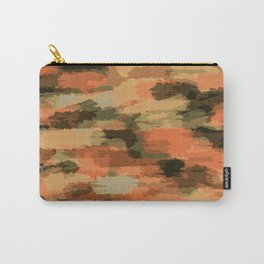 green brown orange and black painting abstract background Carry-All Pouch
