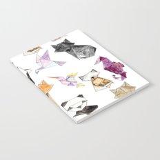 Cute Hand Drawn Geometric Paper Origami Animals Notebook